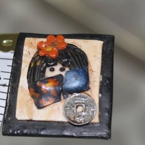 Jewelry - Chinese Asian Little Girl Brooch